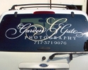 vehicle window lettering